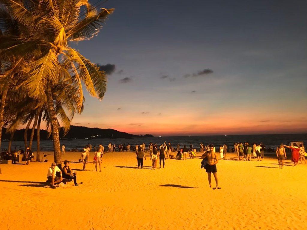 パトンビーチの夕焼け